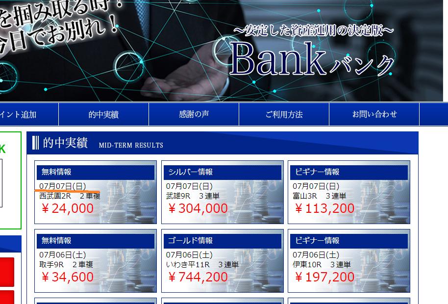 競輪予想Bank(バンク)の的中実績